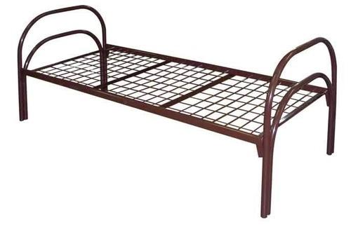 Железные армейские кровати, одноярусные металлические кровати для больниц, бытовок, общежитий, фото — «Реклама Евпатории»
