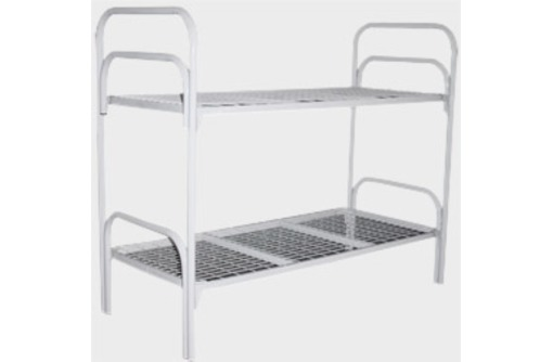 Кровати металлические с ДСП спинками для санаториев, кровати для больниц, кровати для интернатов., фото — «Реклама Красноперекопска»