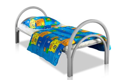 Металлические кровати для пансионата, детских лагерей, кровати армейские, кровати одноярусные оптом, фото — «Реклама Севастополя»