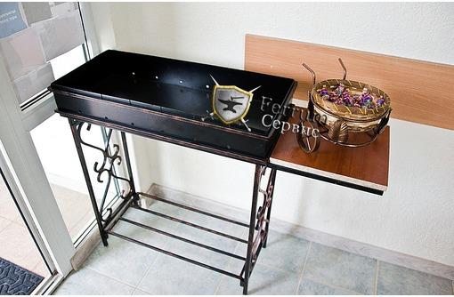 Мангал кованый разборной со столиком, фото — «Реклама Севастополя»