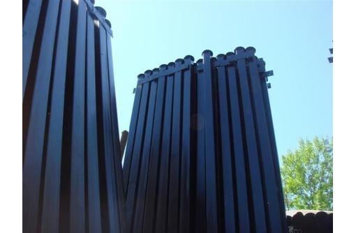 Металлические столбы для забора, фото — «Реклама Тимашевска»