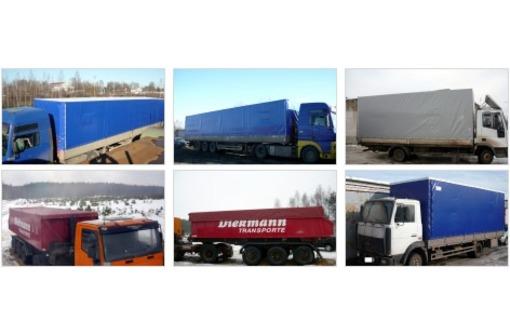 Тенты для грузовых автомобилей, фото — «Реклама Краснодара»