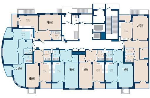 квартира в ЖК Почтовый от подрядчика ниже цены застройщика БЕЗ % 2983 т.р, фото — «Реклама Краснодара»