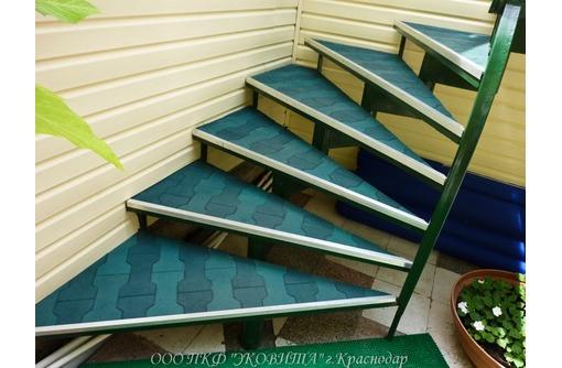 плитка резиновая высокопрочная для ступеней и пандуса, фото — «Реклама Краснодара»