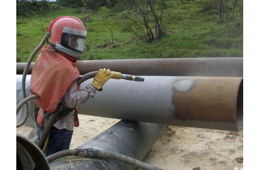 пескоструйная очистка трубопроводов, фото — «Реклама Новороссийска»
