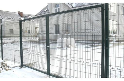 Ворота распашные 2030*4000мм Полимер, фото — «Реклама Краснодара»