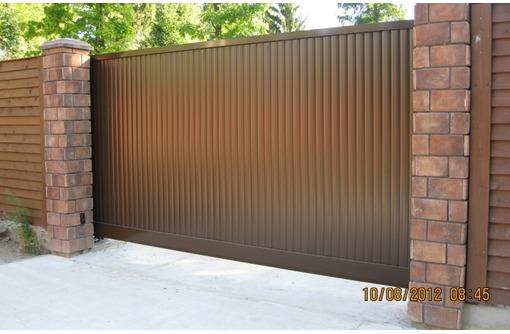 Ворота откатные с автоматикой, фото — «Реклама Краснодара»