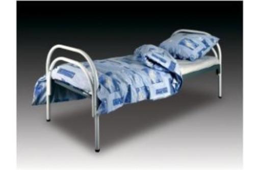 Одноярусные кровати металлические эконом класса в палаты больниц, клиник, госпиталей, фото — «Реклама Анапы»