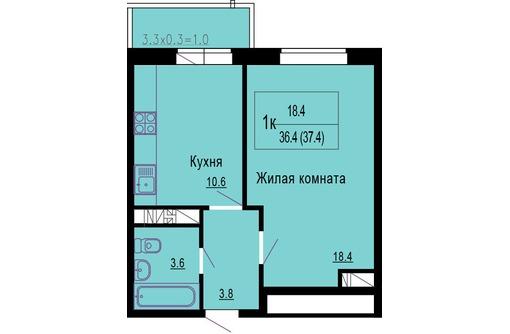 1кв ГМР монолит-кирпич 37м ипотека 1259 т.р, фото — «Реклама Краснодара»