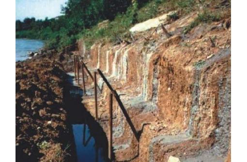 Берегоукрепление сваи в грунте - гидроизоляция, фото — «Реклама Анапы»