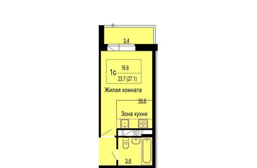 Студия 27 м ГМР ЖК Мелодия 27 м от подрядчика без % 1015 т. р, фото — «Реклама Краснодара»