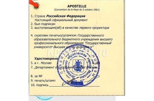 Апостиль на диплом об образовании, фото — «Реклама Краснодара»
