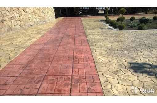 Пресс-бетон в место тротуарной плитки, фото — «Реклама Крымска»