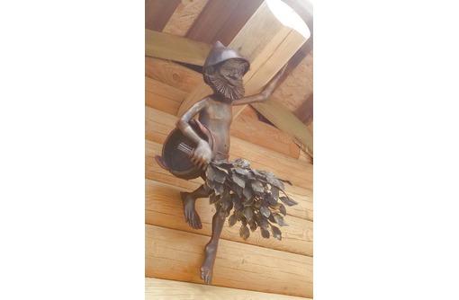 "Скульптура из металла"" Банщик"", фото — «Реклама Белореченска»"