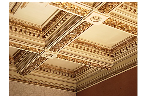 Кессонный потолок.оформления и монтаж, фото — «Реклама Сочи»