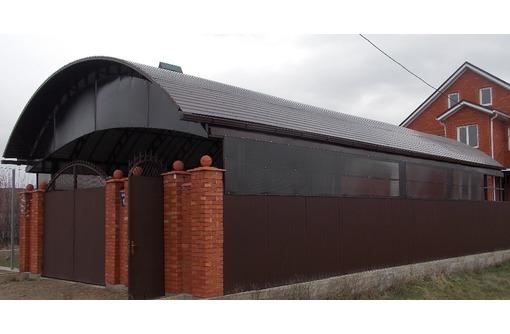 Навесы из профнастила, металлочерепицы в Краснодаре., фото — «Реклама Краснодара»