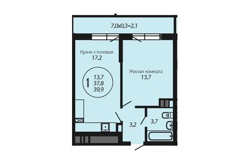 1кв ГМР монолит-кирпич 39,9 м ипотека, фото — «Реклама Краснодара»