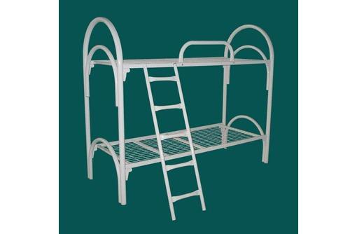 Кровати двухярусные с лестницами и поручнями в интернаты, фото — «Реклама Горячего Ключа»