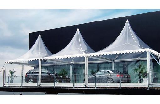 Изготовление и установка шатров  и теневых навесов парус, фото — «Реклама Краснодара»