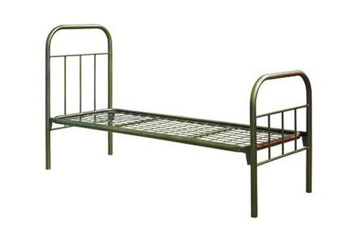 Кровати металлические эконом, кровать металлическая 90х200, кровать с металлическим каркасом, фото — «Реклама Апшеронска»
