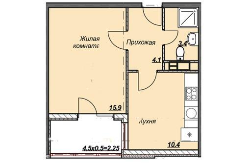 1-комнатная квартира с лоджией, фото — «Реклама Анапы»