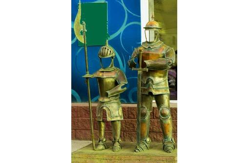 Рыцари(фигуры) для фотографирования из металла., фото — «Реклама Белореченска»