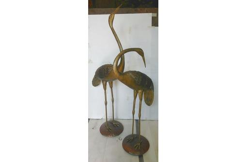 """""""Журавлина семья""""-скульптура из металла., фото — «Реклама Белореченска»"""