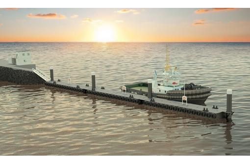 Причал из модульных понтонов контейнерного типа 75 метров., фото — «Реклама Сочи»