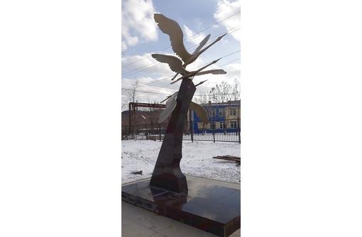 """скульптурная композиция """"Взлет журавлей"""", фото — «Реклама Белореченска»"""