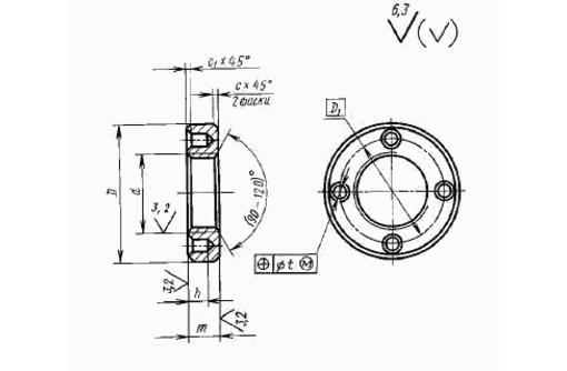 Гайка круглая с отверстиями на торце «под ключ» ГОСТ 6393-73, фото — «Реклама Ейска»