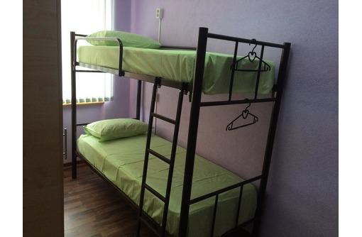 Кровати двухъярусные, односпальные на металлокаркасе для гостиниц, хостелов, баз отдыха, фото — «Реклама Геленджика»