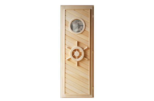 Дверь из липы с иллюминатором 1,90х0,70, фото — «Реклама Апшеронска»