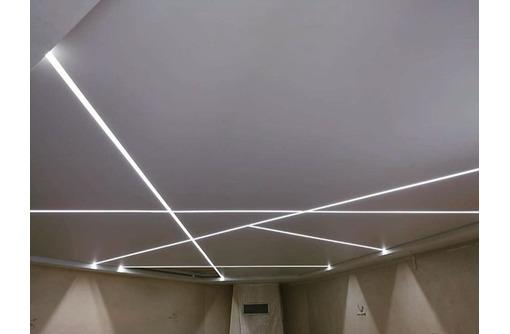 Натяжные потолки и светильники, фото — «Реклама Краснодара»
