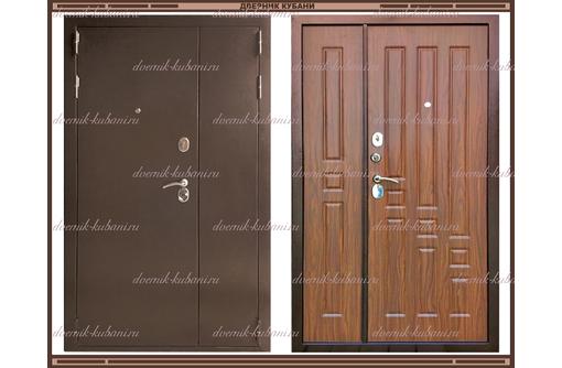 Входная дверь XL 2050 х 1100 Тёмный орех  Россия, фото — «Реклама Краснодара»