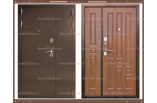 Входная дверь XL 2050 х 1300 Тёмный орех  Россия, фото — «Реклама Краснодара»