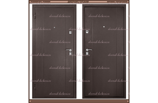 Входная дверь Ф-72 Метал/Метал 68 мм., фото — «Реклама Краснодара»