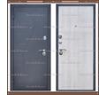 Входная дверь Амстердам Чёрный муар / Беленый дуб 75 мм. Россия : - Двери входные в Кубани