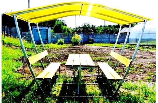 Беседка летняя с лавками  и столом, фото — «Реклама Тихорецка»