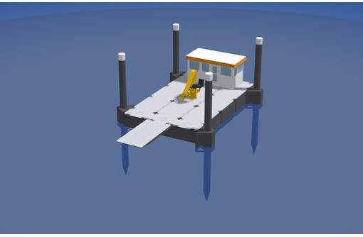 Несамоходный плавучий кран с КМУ 1015LS, фото — «Реклама Адлера»