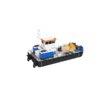 Самоходный плавучий кран с КМУ Soosan 513, фото — «Реклама Адлера»