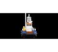 Понтонный буксир - кран с КМУ Soosan 334 - Продажа в Темрюке