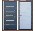Входная дверь Токио Серый букле / Белое дерево 75 мм. Россия : - Двери входные в Кубани