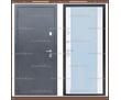 Входная дверь Фараон зеркало Серое букле / Платина 100 мм. Россия :, фото — «Реклама Краснодара»