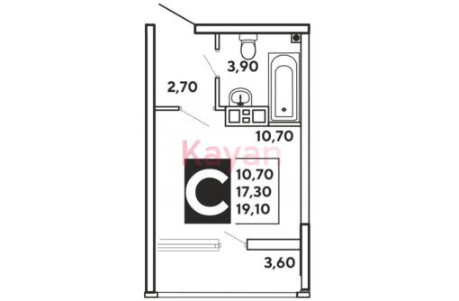 Студия 19.1 м2 ЖК Самолет чистовая, фото — «Реклама Краснодара»