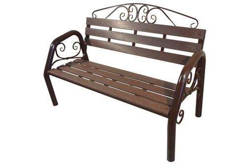 Скамья садово-парковая с ковкой, фото — «Реклама Сочи»