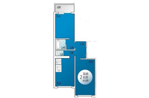Продаю 2-комнатную ГМР 63/33/16 под ключ 2330 т.р, фото — «Реклама Краснодара»