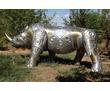 "скульптура креативная""Носорог"" из алюминия и латуни, фото — «Реклама Белореченска»"
