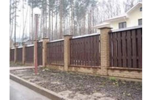 Забор деревянный сосна, лиственница. Собственное производство., фото — «Реклама Краснодара»
