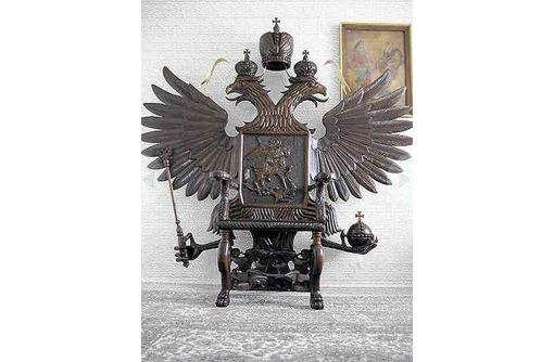 """Трон скульптурный """"Двуглавый орел"""", фото — «Реклама Белореченска»"""