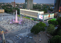 Движение транспорта в районе Театральной площади ограничат 30 декабря, фото — «Рекламы Кубани»